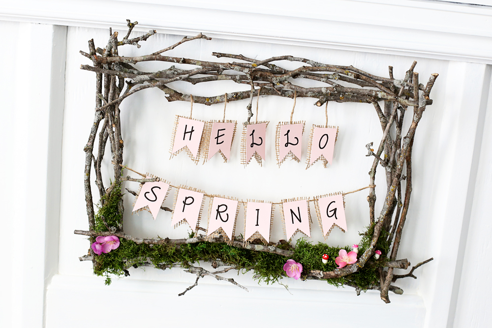 twig spring wreath diy