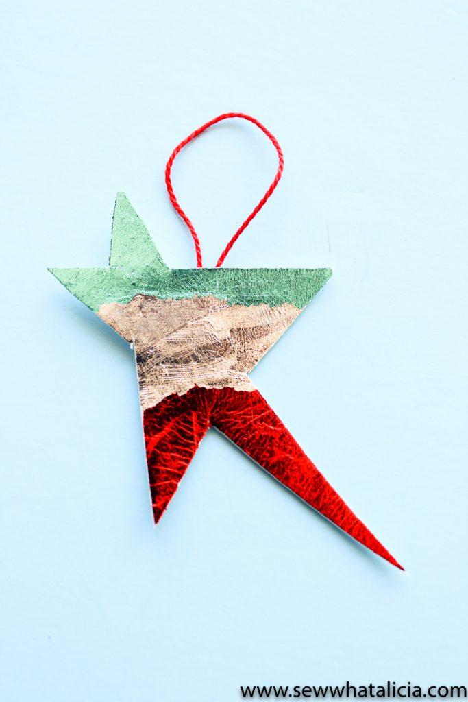 Easy No Sew Star Ornament Tutorial-11