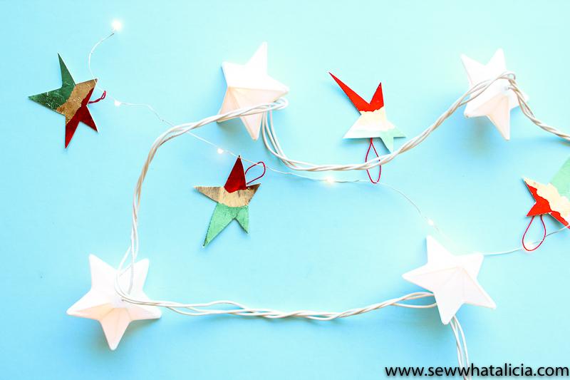 Easy No Sew Star Ornament Tutorial-13