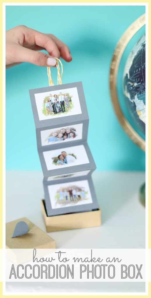 how to make an accordion photo box