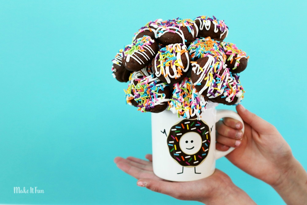 make your own donut bouquet gift mug MIF