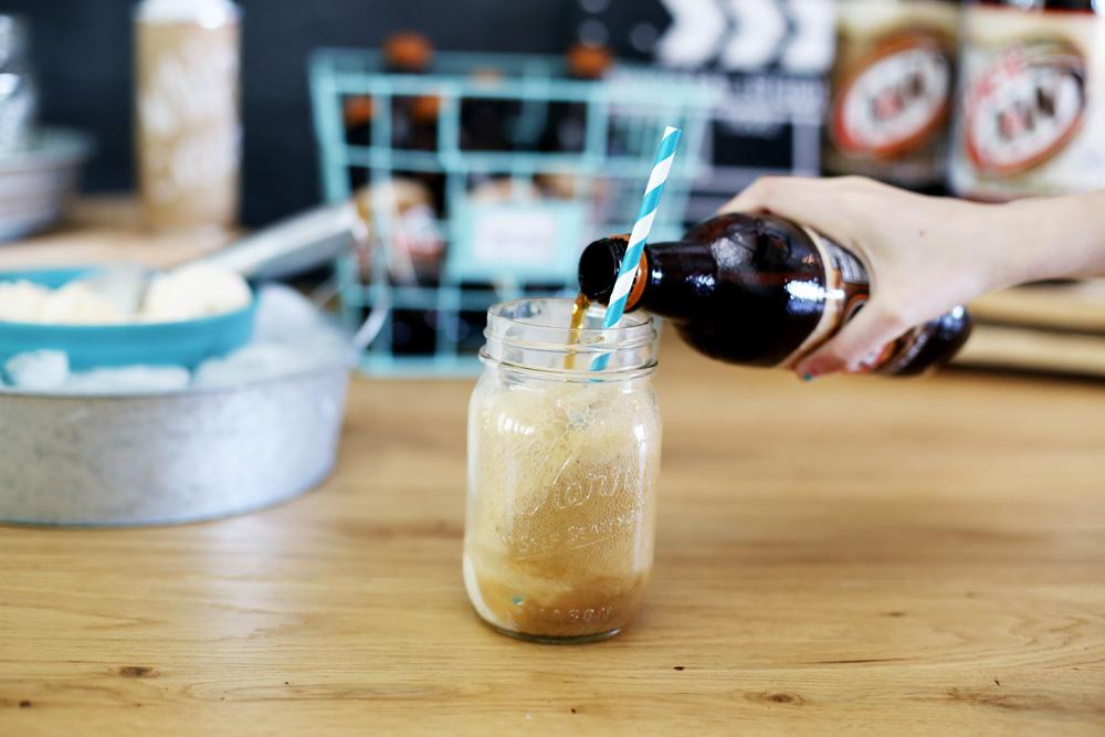 making root beer floats