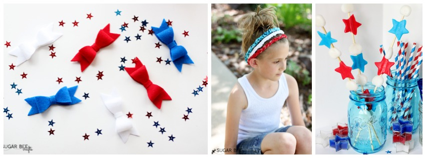 red white blue crafts treats