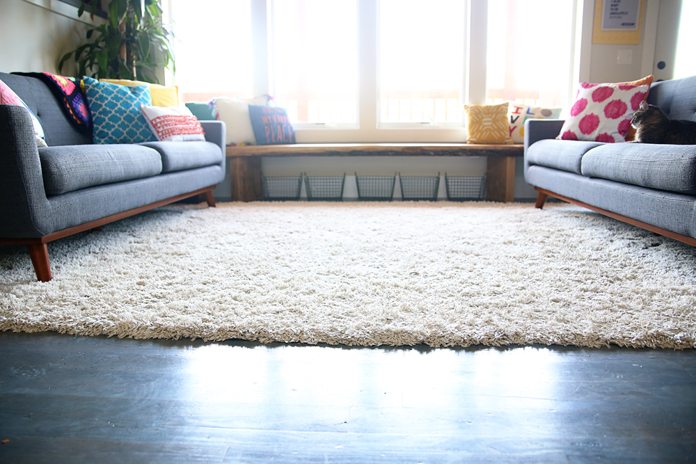 fluffy white rug review