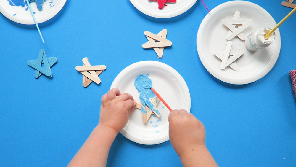 painting craft stick star