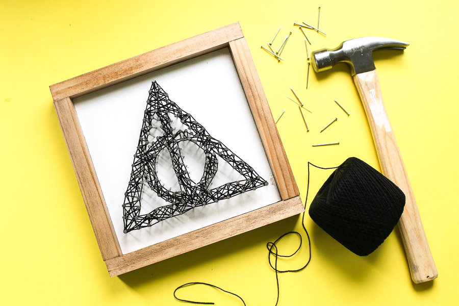 Deathly Hallows String Art-4