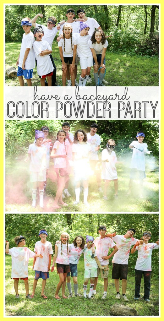 at home diy color powder party