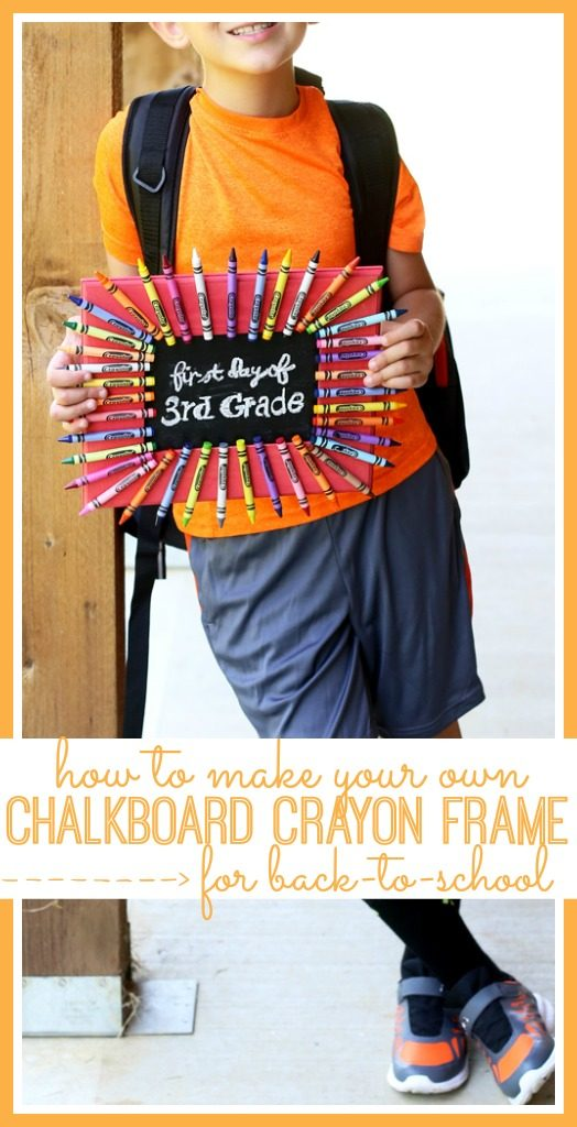 chalkboard crayon frame for back to school