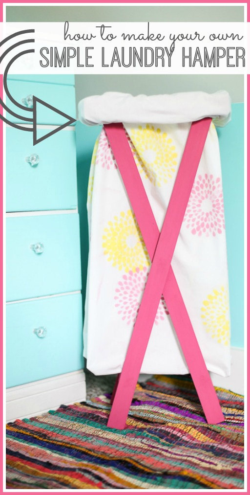 how to make a simple laundry hamper diy tutorial project
