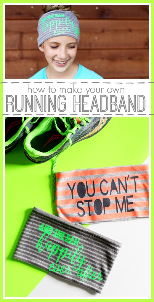 how to make your own running motivational sports headband