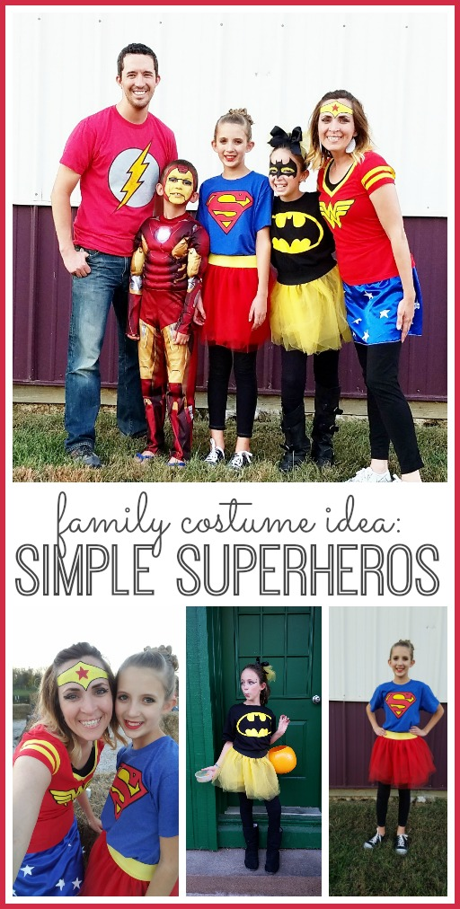 family costume superheros