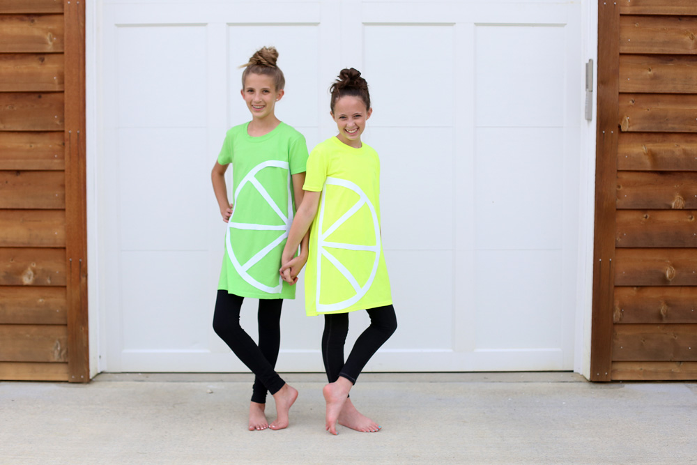 no sew fruit costume tshirt
