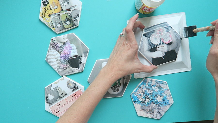 photo coaster tile craft-5