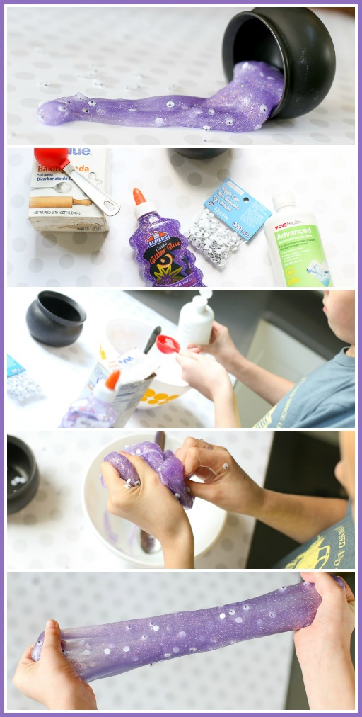glitter eyeball halloween slime recipe how to make it