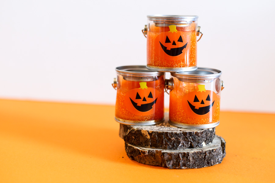DIY Glitter Pumpkin Slime with no Borax Idea by Mandy Beyeler