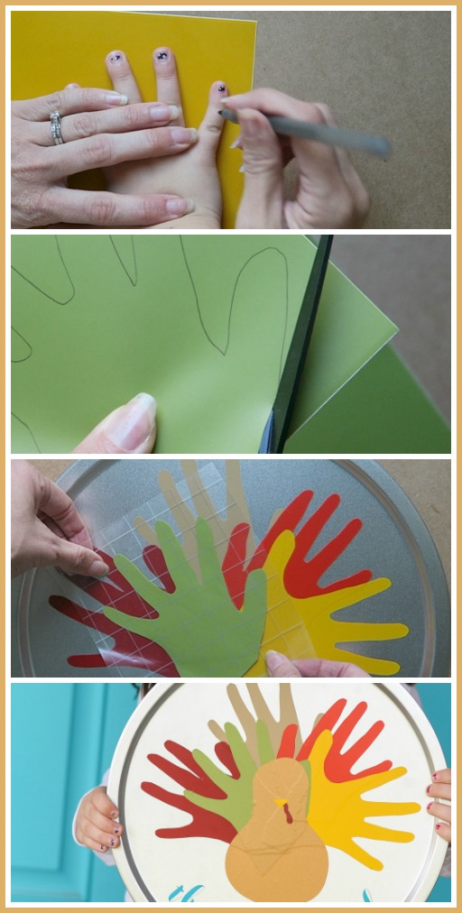 vinyl handprint turkey craft