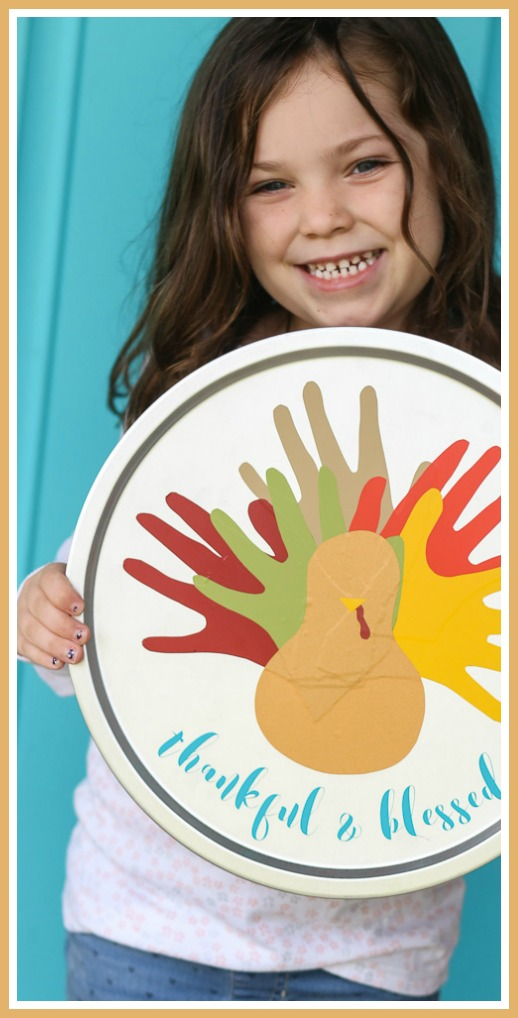 vinyl turkey handprint craft