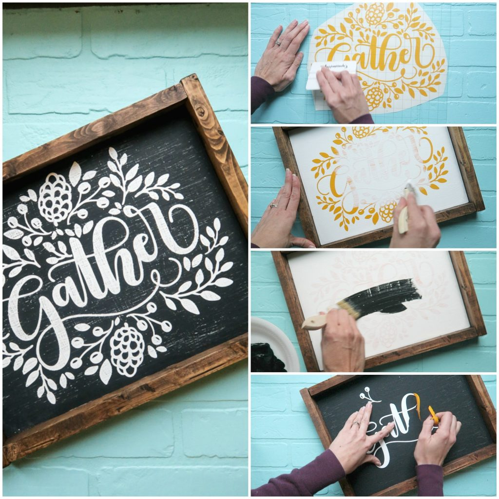 gather cut file crisp lines sign