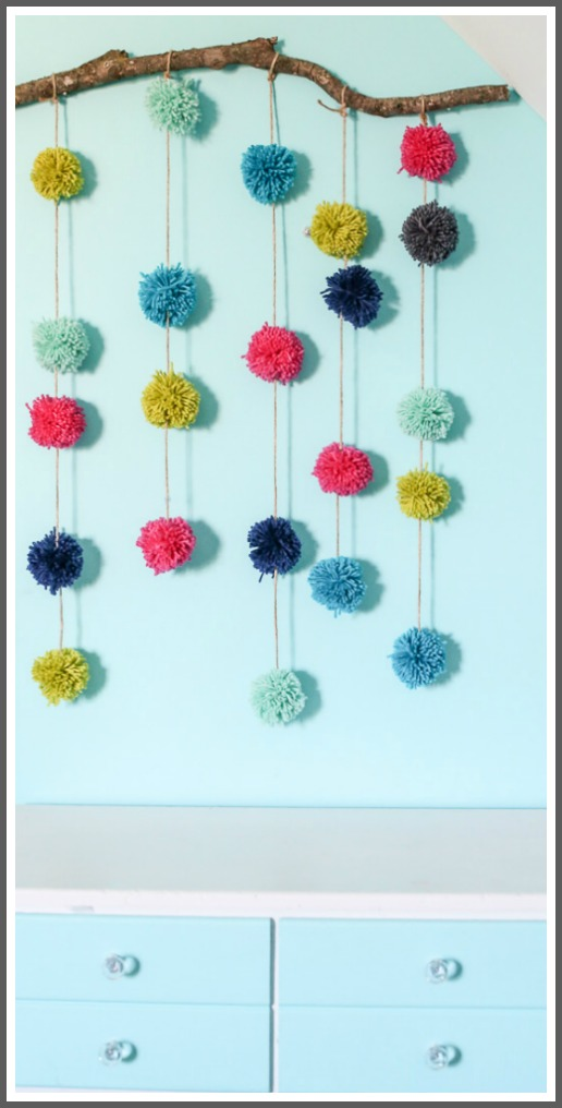 how to make a pom pom wall art