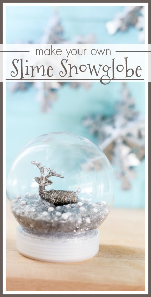 how to make a slime snowglobe
