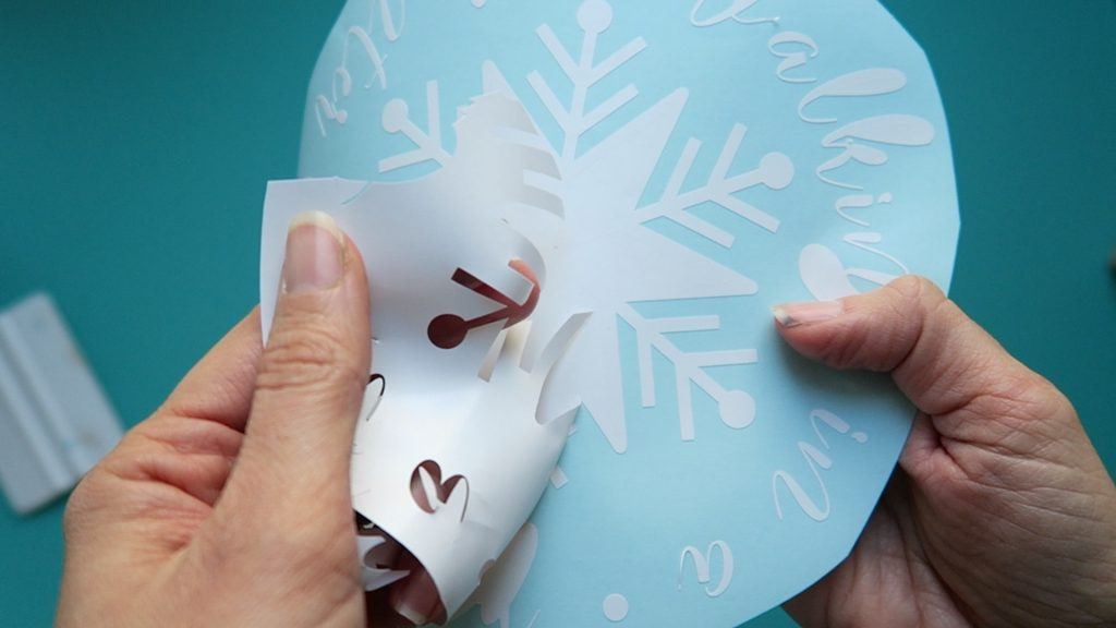snowflake string art