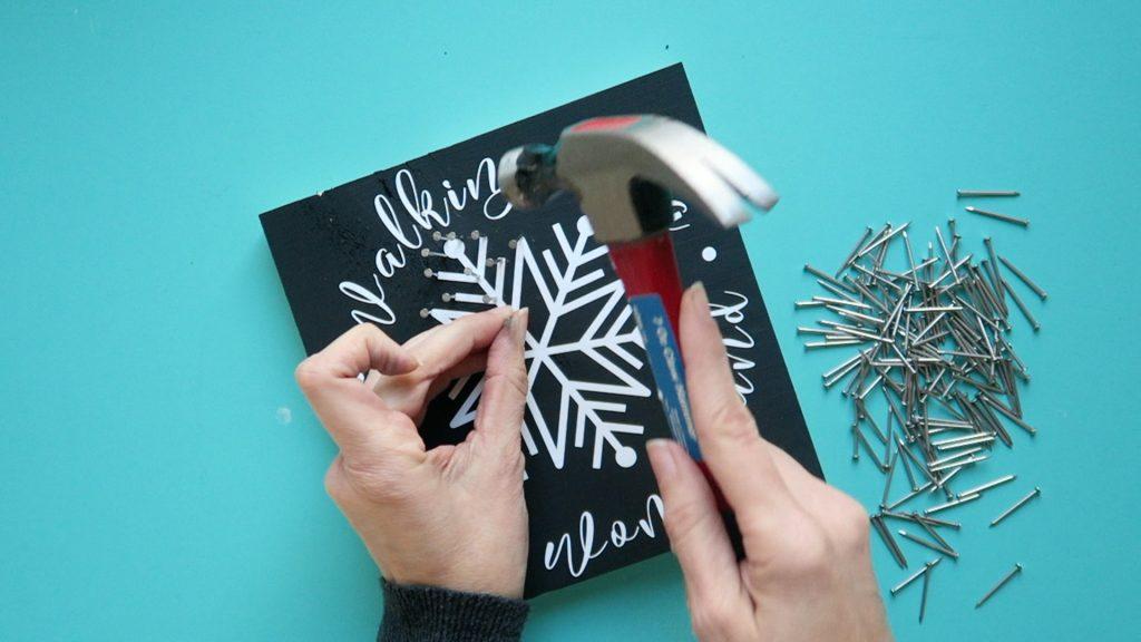 snowflake string art 3