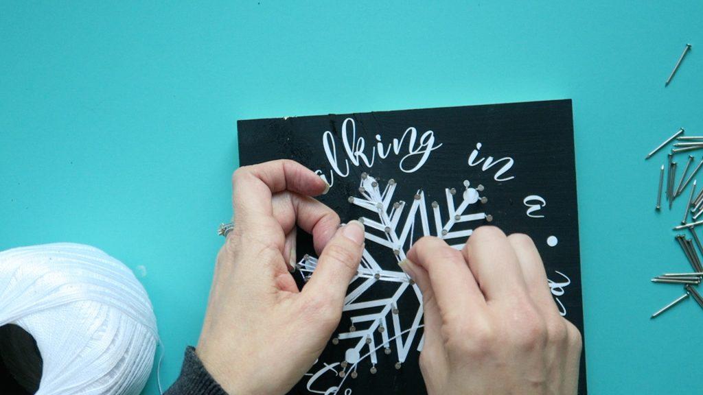 snowflake string art 4