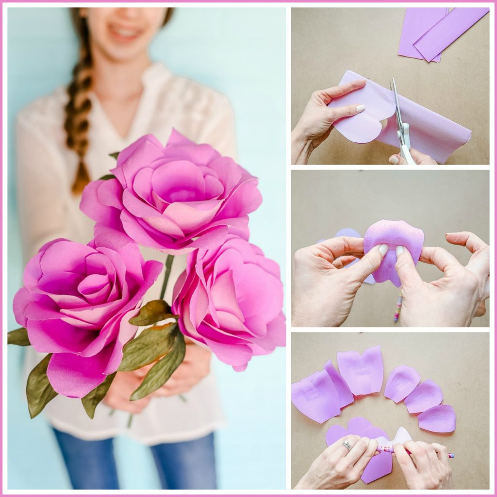 Simple Paper Flowers Sugar Bee Crafts