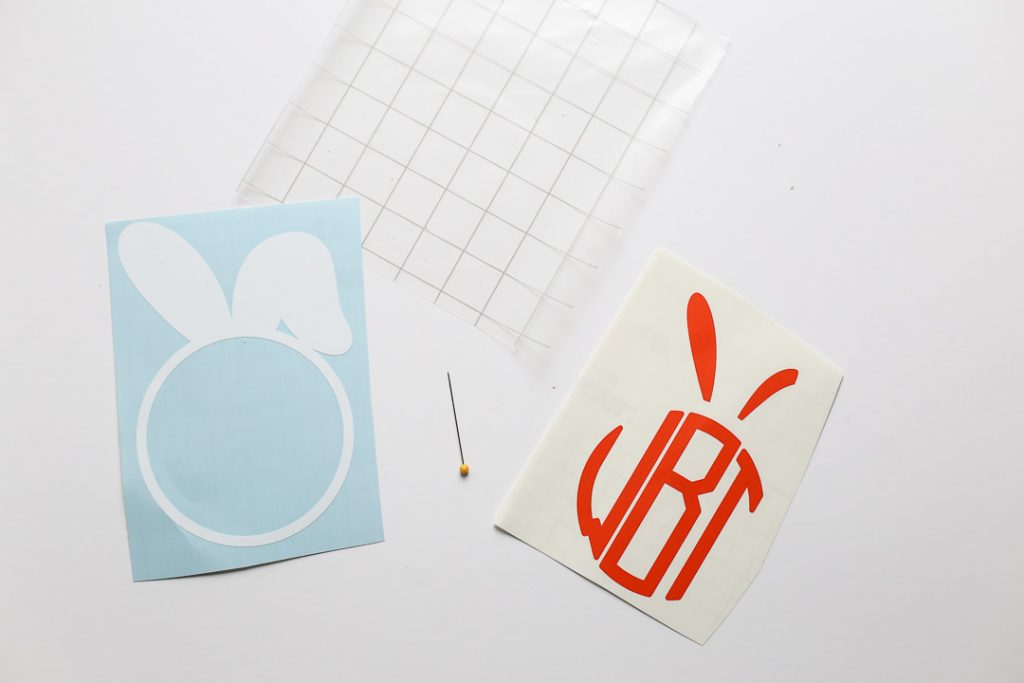 monogram easter basket decal-5
