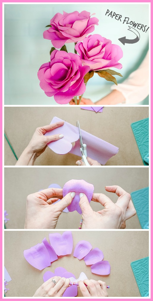 Simple paper flowers sugar bee crafts easy and fast simple paper flowers paper flowers easy fast tutorial mightylinksfo